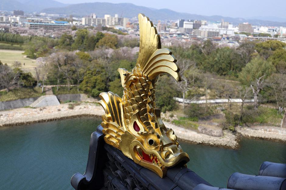 愛知名古屋城のしゃちほこ